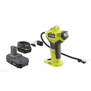 RYOBI P737DKN 18-Volt ONE+ Lithium-Ion Cordless Power Inflator Kit with 1.5 Ah Battery and 18-Volt for $80