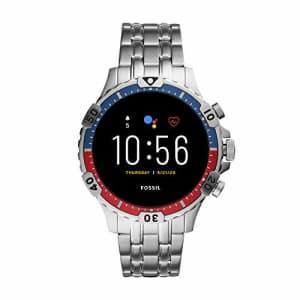 Fossil Gen 5 Garrett HR Heart Rate Stainless Steel Touchscreen Smartwatch, Color: Silver (Model: for $270