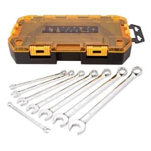 DEWALT Combination Wrench Set, SAE, 8 pieces (DWMT73809) for $29