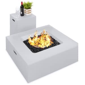 Best Choice Products 40,000 BTU Propane Fire Pit Table w/ Side Table Tank Storage for $423