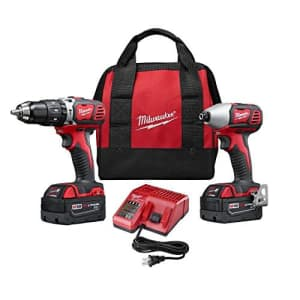 Milwaukee 2697-22 M18 18-Volt Lithium-Ion Cordless Hammer Drill/Impact Driver XC Combo Kit (2-Tool) for $279