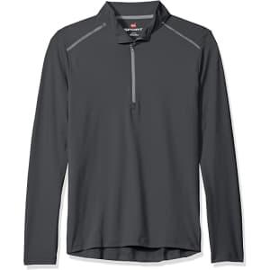 Hanes Men's Sport Performance Quarter-Zip Pullover for $15