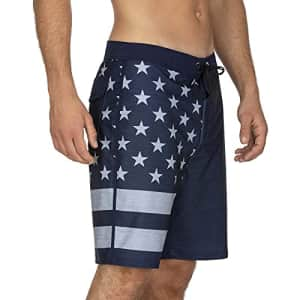 "Hurley Men's Phantom Patriot Cheers 20"" Board Shorts, Obsidian, 32 for $50"
