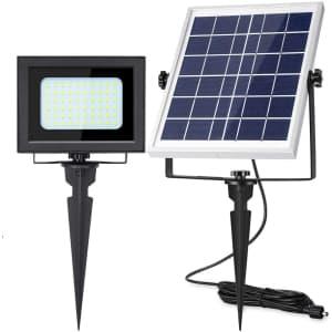 Uponun LED Solar Flood Light for $38