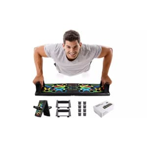 9-in-1 Push Up Rack Board Fitness System for $18
