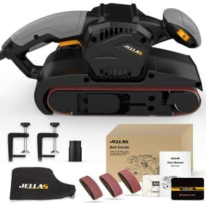 "Jellas 3"" x 21"" Belt Sander w/ Dust Bag for $60"