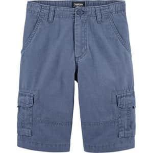 OshKosh B'Gosh Osh Kosh Boys' Little Cargo Shorts, Liberty Blue, 7 for $15
