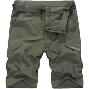 Vcansion Men's Quick Dry Shorts for $15