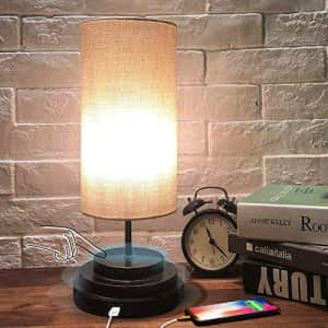 Touch-Control Dimmable Desk Lamp w/ LED Bulb for $23