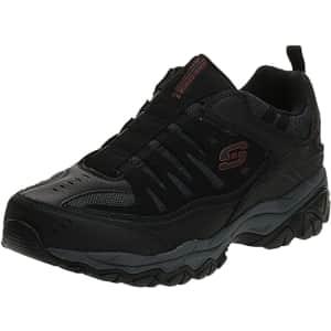 Skechers Men's Afterburn Memory Foam Strike On Training Shoes for $32