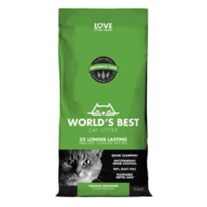 World's Best 28-lb. Unscented Clumping Corn Cat Litter for $10 w/ Autoship