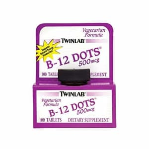 Twinlab B-12 Dots 500mcg | 100 Tablets | Supports Natural Energy Production | Vegetarian Formula | for $10