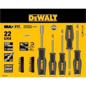 Dewalt Maxfit Screwdriver Set (22-piece) for $37