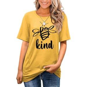 Angerella Women's Summer T-Shirt Tunic w/ Pockets for $12