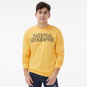 Aeropostale Men's National Geographic Mount Everest Crew Sweatshirt for $15