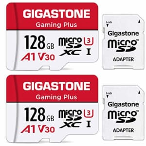 Gigastone 128GB 2-Pack Micro SD Card with Adapter, Gaming, A1, U1 C10 Class 10 100MB/s, Full HD for $35