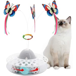 Flurff Interactive Cat Toy for $10