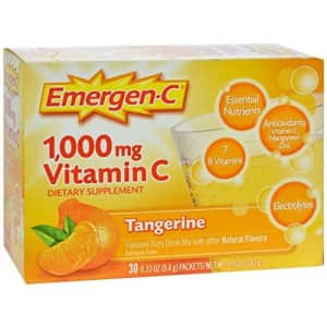 Emergen-C Vitamin C Tangerine Flavored Drink Mix 30 Packets, 0.33 oz for $10