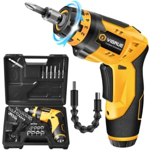 Vigrue Rechargeable Electric Cordless Screwdriver for $28