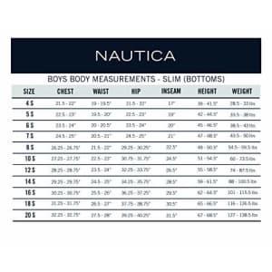 Nautica Big Boys' Uniform Flat Front Twill Short, Navy, Small/8 for $14