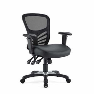Modway Articulate Mesh Office Chair with Fully Adjustable Vegan Leather Seat In Black for $158