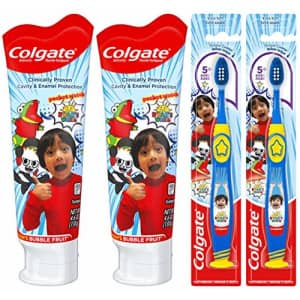 Colgate Kids Toothpaste and Toothbrush Set, Ryan's World for $10