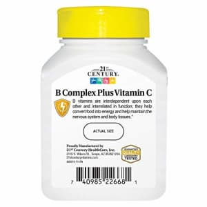 21st Century B Complex with C Tablets, 100 Count for $10