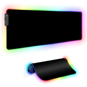 Oversized RGB Glowing Computer Keyboard/Mouse Mat for $10