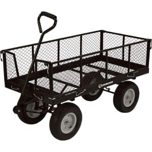Strongway Steel Jumbo Garden Wagon for $90