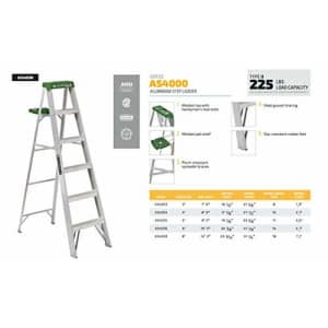 Louisville Ladder 6-Foot Aluminum Step Ladder, 225-Pound Capacity, AS4006 for $133
