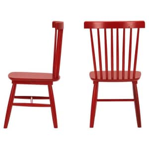 StyleWell Windsor Solid Wood Dining Chair 2-Pack for $112