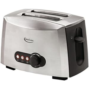 Betty Crocker BC-1618C 2-slice Toaster, Brushed Stainless Steel for $30