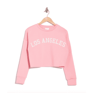 Abound Women's Cropped Graphic Pullover Sweatshirt for $6