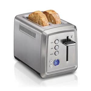Hamilton Beach Digital 2 Slice Extra Wide Slot Stainless Steel Toaster with Bagel & Defrost for $45