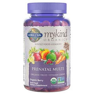Garden of Life Organics Prenatal Gummy Vitamins Non-GMO, Vegan, Multi-colored, Berry, 120 Count for $25