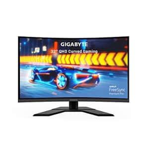 "GIGABYTE G32QC A (32"" 165Hz 1440P Curved Gaming Monitor, 2560 x 1440 VA 1500R Display, 1ms (MPRT) for $370"