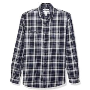 Amazon Essentials Men's Slim-Fit Twill Shirt from $5