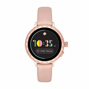 kate spade new york Women's Scallop 2 Stainless Steel Touchscreen smartwatch Watch with Leather for $255
