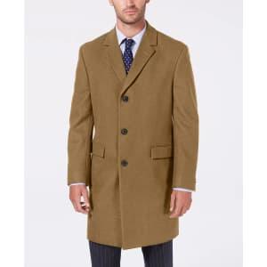 Nautica Men's Melton Wool-Blend Batten Overcoat for $95