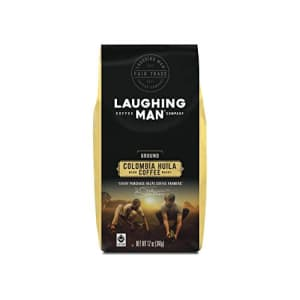 Laughing Man Columbia Huila, Ground Coffee, Dark Roast, Bagged 12 oz for $16
