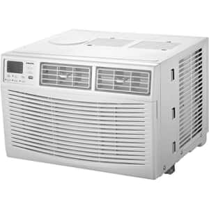 AMANA 6,000 BTU 115V Window-Mounted Air Conditioner with Remote Control, White for $218