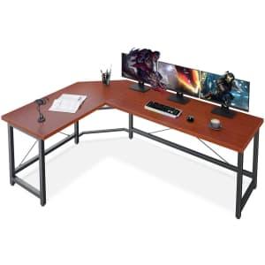 Coleshome L-Shaped Corner Computer Desk for $91