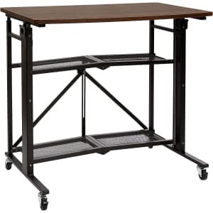 AmazonBasics Foldable Standing Computer Desk for $122
