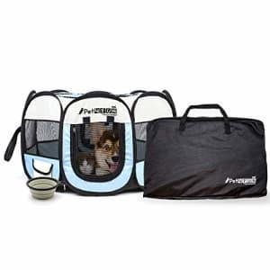 "PicassoTiles PET4FUN PN935 35"" Portable Pet Puppy Dog Cat Animal Playpen Yard Crates Kennel w/ Premium 600D for $25"