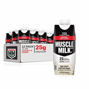Muscle Milk Genuine Protein Shake, Cookies 'N Crme, 25g Protein, 11 Fl Oz, 12 Pack for $33