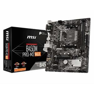 MSI B450M Pro M2 Max AMD B450 AM4 Micro ATX DDR4-SDRAM Motherboard for $117