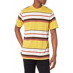 RVCA Men's HEADSHRINKER Short Sleeve Crew Neck Shirt, Bamboo, L for $40