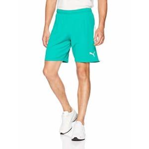 PUMA Men's Liga Shorts, Pepper Green White, M for $24