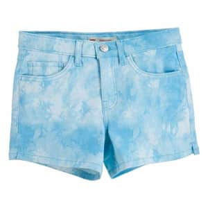Levi's Girls' Denim Shorty Shorts, Blue Topaz, 14 for $20