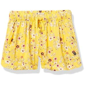 Roxy girls In the End Casual Shorts, Banana Cream Flower Bucket, 5 US for $19